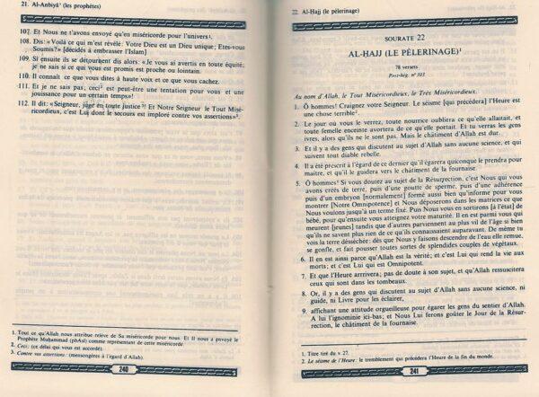 Le Saint Coran et la traduction en langue française du sens de ses versets (FR)-7989