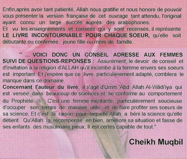 Conseils aux femmes musulmanes (Nasîhatî linnisâ) - Questions-reponses-1629