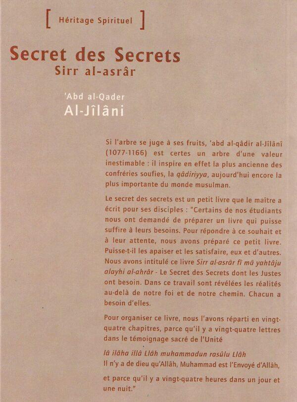 Secret des Secrets -1741