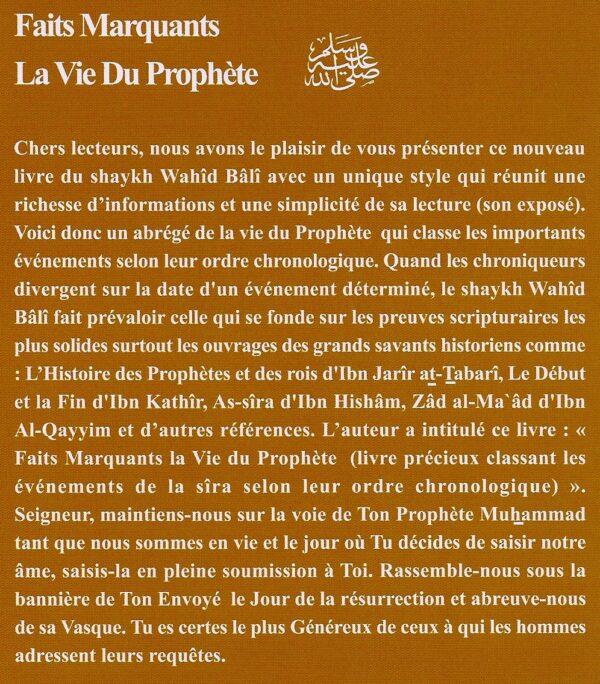 Faits marquants la vie du Prophète (PSL)-1513
