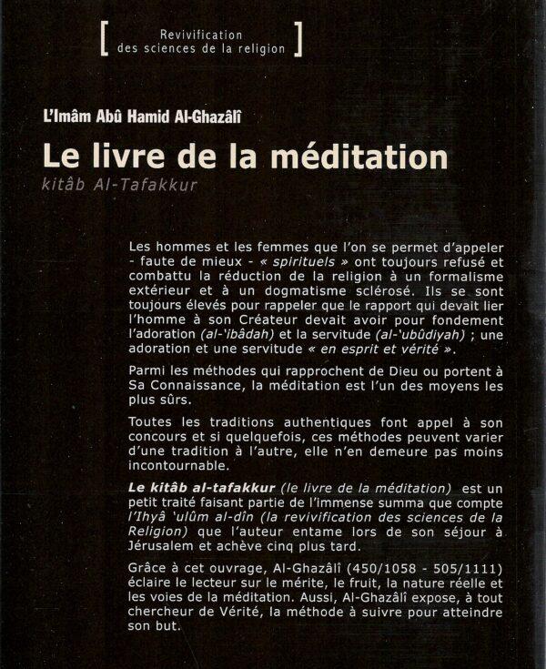 Le livre de la méditation - Kitâb At-Tafakkur -1777