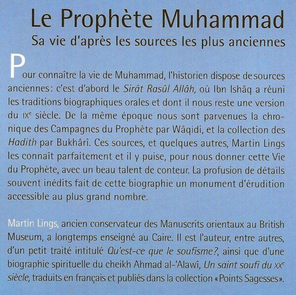 Le Prophète Mohammad, sa vie d'après les sources les plus anciennes-1647