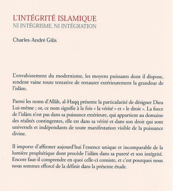 L'intégrité islamique ni intégrisme, ni intégration -1786