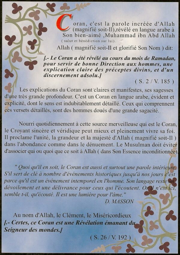 Le Coran et ce que pensent les occidentaux-2136