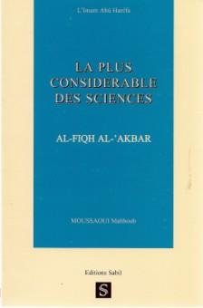 La plus considérable des sciences : fiqh al akbar-0