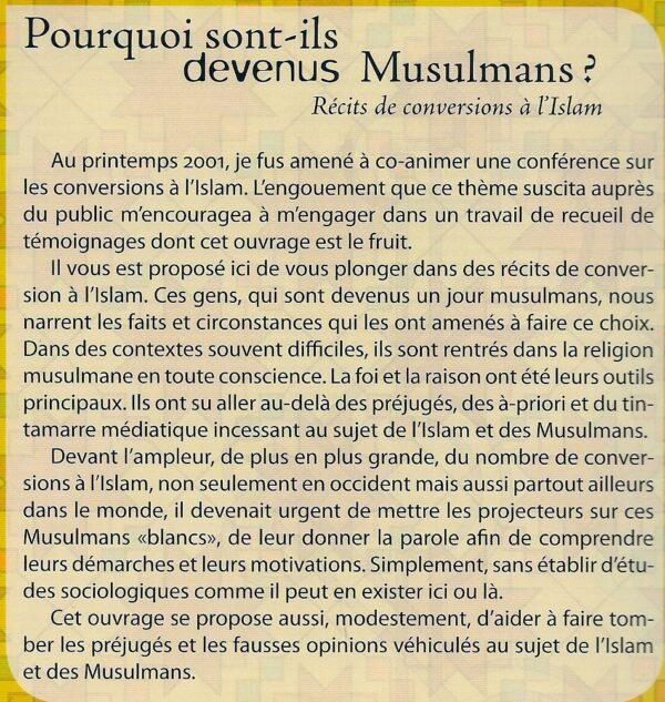 Pourquoi sont-ils devenus Musulmans? Récits de conversions à l'Islam -2324