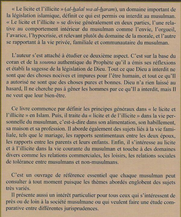 Le licite et l'illicite en Islam -1962