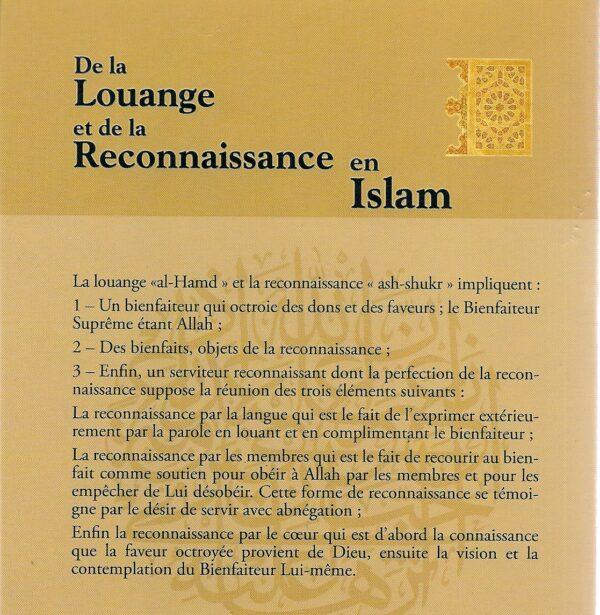 De la louange et de la reconnaissance en islam -2701