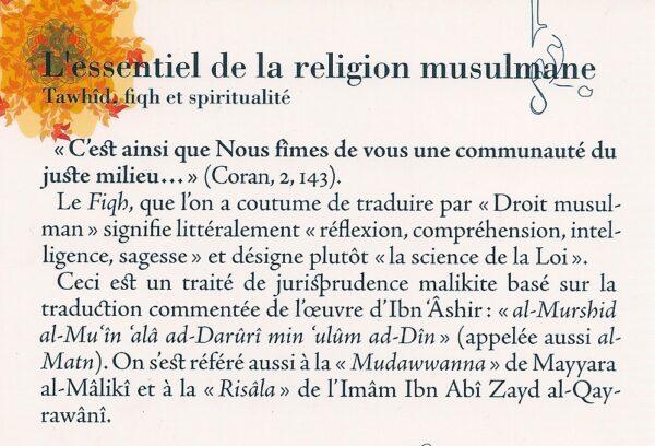 L' essentiel de la religion musulmane - Tawhid, fiqh et spiritualité -2851