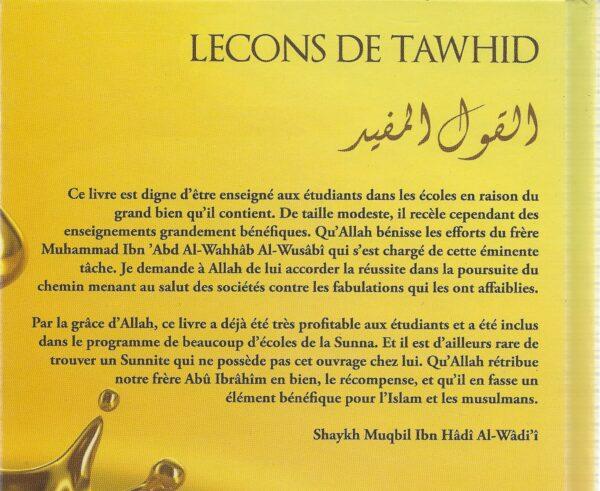 Leçons de Tawhid (al-Qawl al-Mufid)-2899