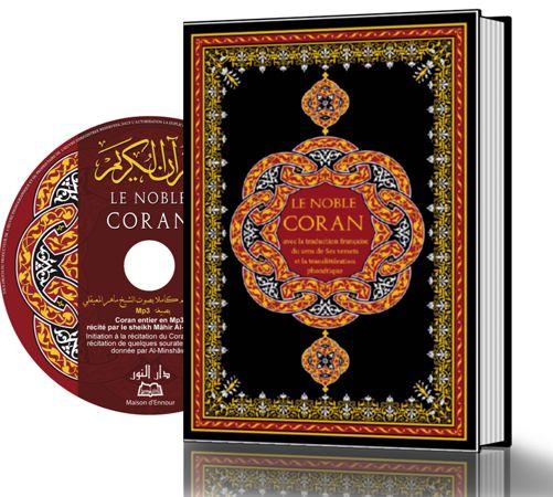 Le Noble Coran Français-Arabe-Phonétique avec CD (grand format)-0