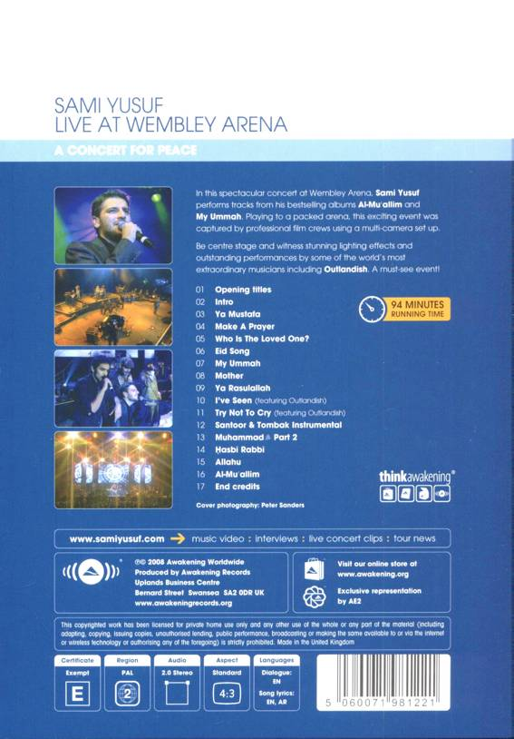 DVD le concert donné par sami yusuf à wembley arena-6395