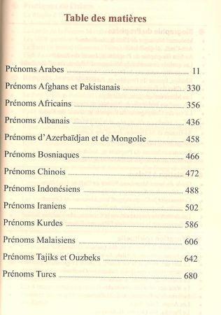 Dictionnaire des prénoms musulmans -6308