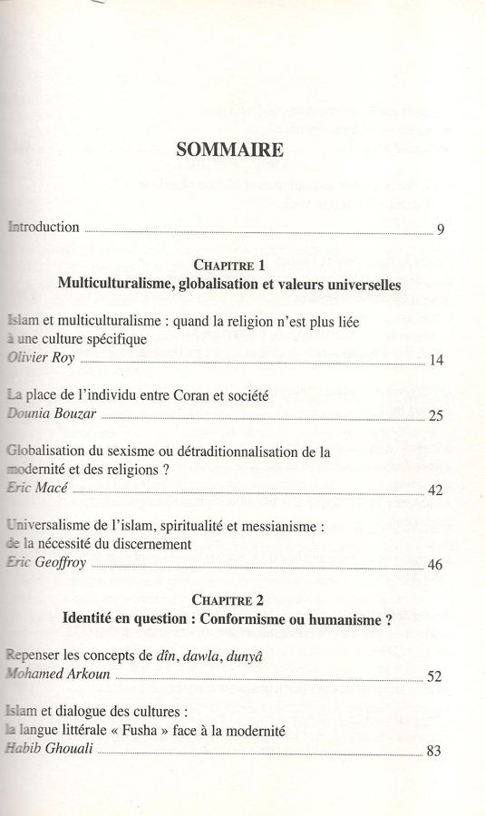 Penser la modernité et l'islam. Regards croisés-6472