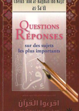 Questions et réponses sur des sujets les plus importants-0