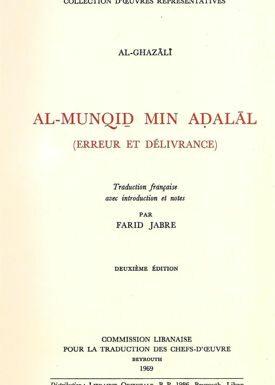 AL-MINQID MIN ADALAL - Erreur et délivrance --0
