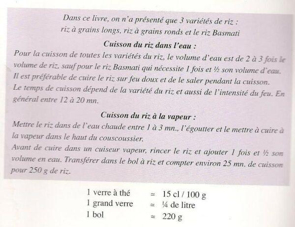 Livre de cuisine LE RIZ-6668