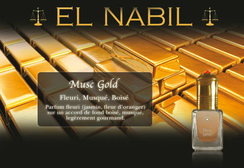 Parfum El Nabil - Musc Gold - 5ml-0