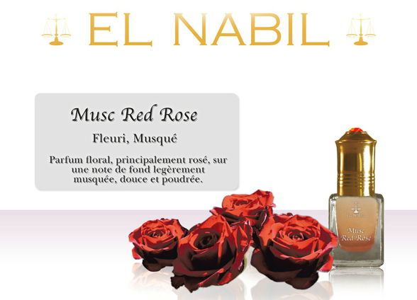 Parfum El Nabil - Musc Red Rose - 5ml-0