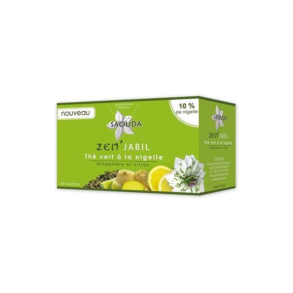 Thé vert à la nigelle - Zen' Jabil - Gimbembre et Citron-0