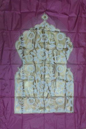 Tapis de prière Salmane avec boussole-6930