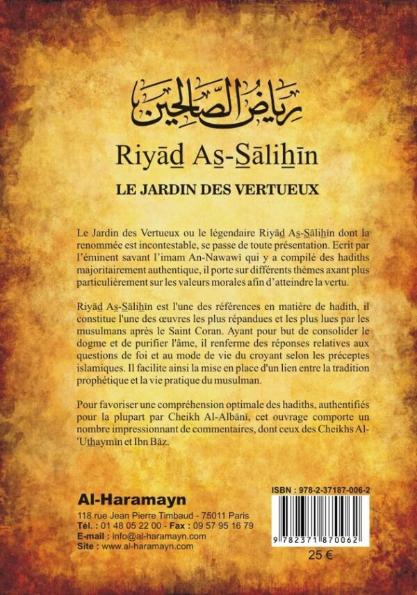 Riyad as-Salihin - Les jardins des vertueux - Al-haramayn Imam Nawawi-6879