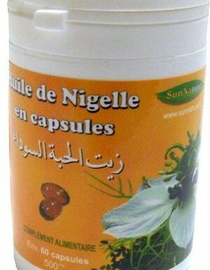 Huile de Nigelle  en capsules (pot de 60 gélules de 500 Mg)