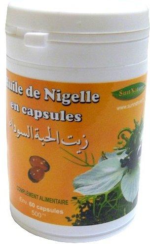 Huile de Nigelle Bio en capsules (pot de 60 gélules de 500 Mg) -0