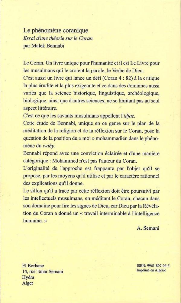 Le phénomène coranique Essai d'une théorie sur le Coran-7759