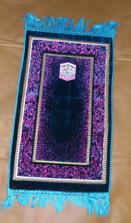Tapis de prière pour enfant - Turquoise, rose --7904