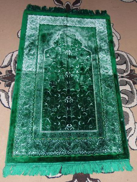 Tapis de prière velours - Vert --7890