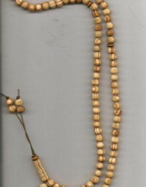 Chapelet 99 perles en bois naturel