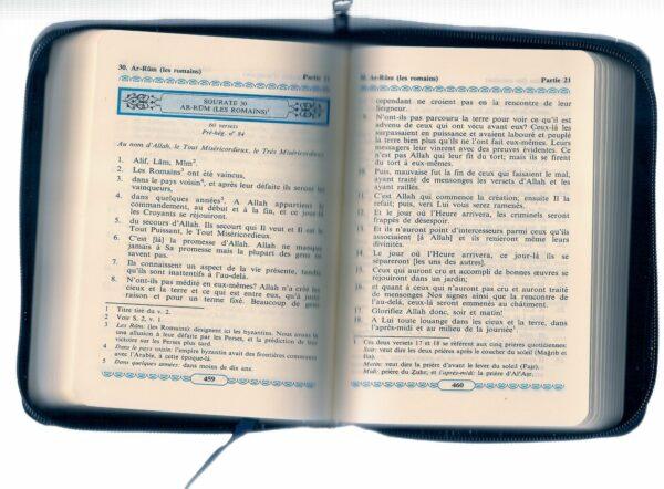 La traduction des sens du NOBLE CORAN en langue française avec fermeture eclair -Fr--7964