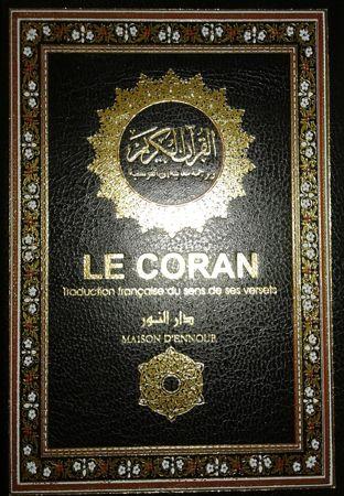le coran traduction française du sens de ses verset - ar/fr - 11x14x4 cm (Noir)-8159