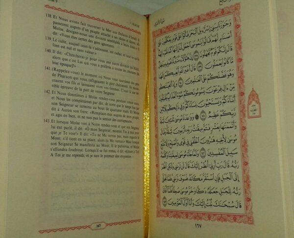 le coran traduction française du sens de ses verset - ar/fr - 11x14x4 cm (Noir)-8158
