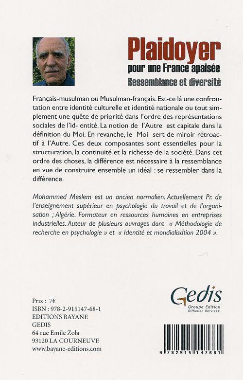Plaidoyer pour une France apaisée - Ressemblance et diversité-8335