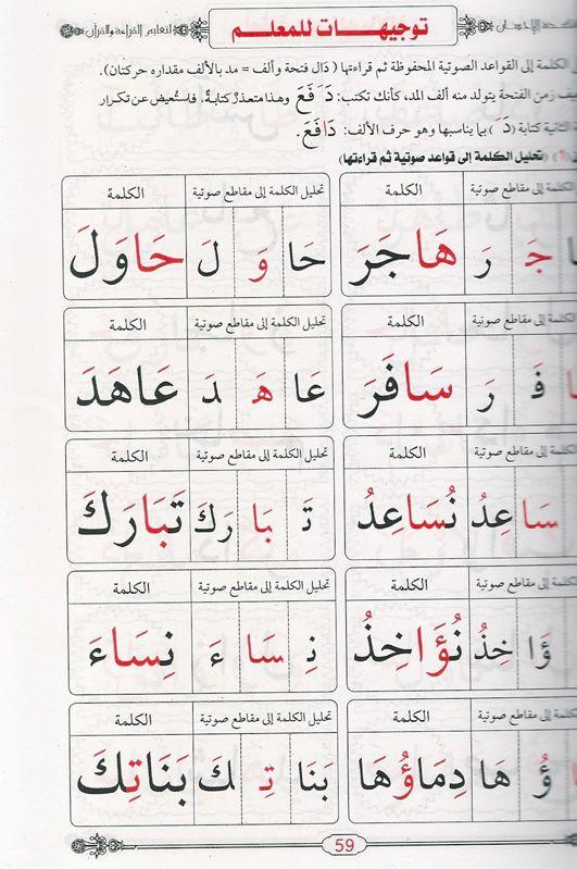 معلم القراءة العربية مع قاعدة بغدادية apprentissage de la lecture arabe avec la règle al-baghdadya-8256