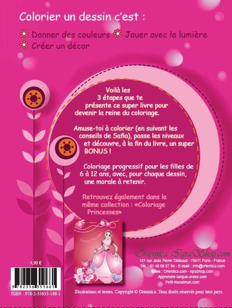 J'apprends le Coloriage - Pour les petites musulmanes (Bilingue français - arabe)-8532