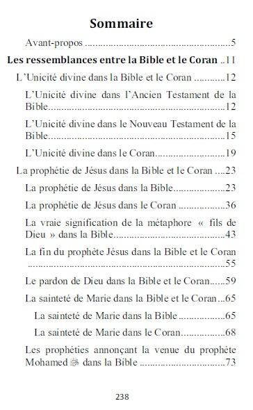 La Bible et le Coran : Ressemblances et divergences-8787