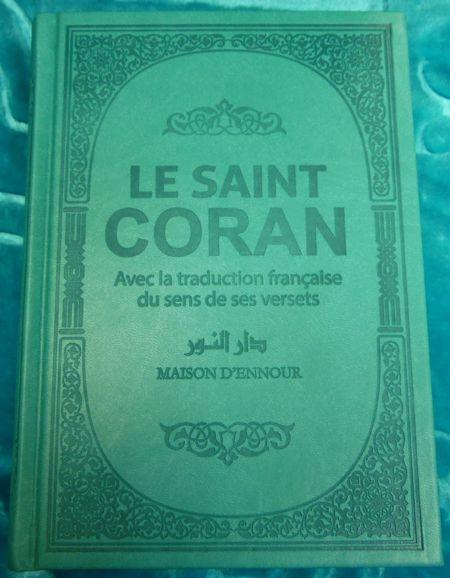 Le Coran arabe/français (avec couleurs arc-en-ciel) VERT TURQUOISE-9026