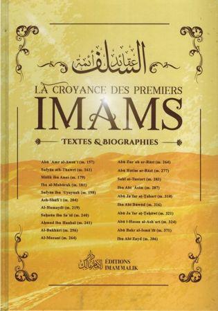 La Croyance des Premiers Imams - Textes et Biographies - Editions Imam Malik-0