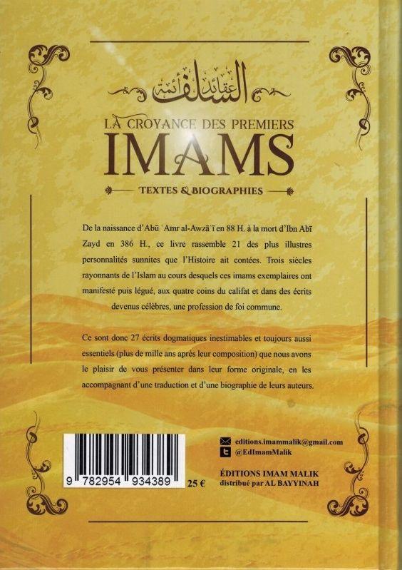 La Croyance des Premiers Imams - Textes et Biographies - Editions Imam Malik-9090